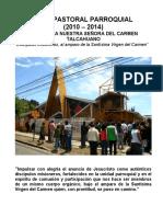 PLAN PASTORAL PARROQUIAL - PARROQUIA NUESTRA SEÑORA DEL CARMEN TALCAHUANO