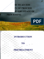 Method to access quality of process
