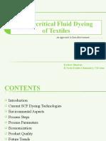Supercritical Fluid Dyeing