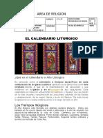 Calendari Liturgico 1º y 2º Las Flores.