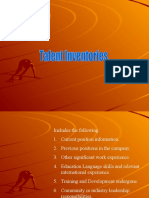 Talent Inventory
