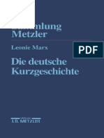 (Sammlung Metzler) Leonie Marx (Auth.) - Die Deutsche Kurzgeschichte-J.B. Metzler (1997)