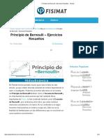 ▷ Principio de Bernoulli - Ejercicios Resueltos - Fisimat
