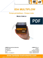 LAMBDA-MULTIFLOW-pompe-peristaltique-mode-d'emploi