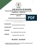 EJERCICIOS DE ECONOMIA OFERTA Y DEMANDA-