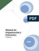 MANUAL ORGANIZACION Y FUNCIONES