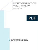 ELECTRICITY GENERATION FROM TIDAL ENERGY