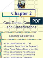 Cost Terms and classifications