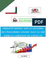 Enquete Rapide Service Pvvih Covid 19