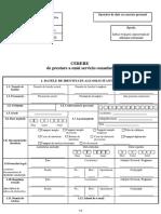 Cererea de servicii consulare - Înscriere certificat de naştere străin în registrele de stare civilă română