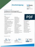 Knorr Alexander IT-Risk Manager (DGI/Bitkom) ISO/IEC 31000, 27005 und BSI IT-Grundschutz