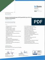 Knorr, Alexander BusinessContinuityManager (DGI/Bitkom) ISO/IEC 22301, 27031 und BSI IT-Grundschutz