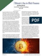 Analysis of Bitcoin in Illicit Finance