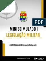 MINISSIMULADO LEG. MILITAR GAB COMENTADO