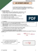 Ch1 Interet Simple Math Fin