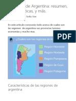 ?Regiones de Argentina_ resumen, características, y más_