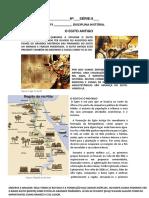 ATIVIDADE  HISTÓRIA 6 ano EGITO ANTIGO
