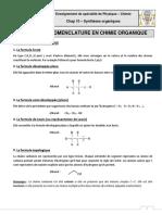 COURS - Formules Et Nomenclature en Chimie Organique