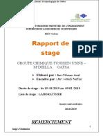 Rapport de Stage  réalisé par Amal Ben Othmen