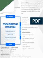 CONDICIONES DE LAS ESTRUCTURAS