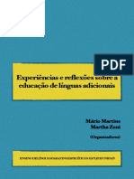 Experiências e Reflexões Sobre a Educação de Línguas Adicionais