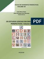 Os estudos lexicais. V. 7