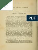 Sarmiento_Primera polémica literaria