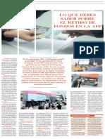 El Retiro de Fondos en La Afp - Autor José María Pacori Cari
