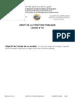 Droit de La Fonction Publique 01