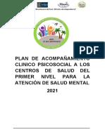 PLAN DE ACOMPAÑAMIENTO PSICOSOCIAL CSMC - TA 2021
