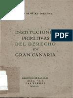 Instituciones Primitivas Del Derecho en Gran Canaria