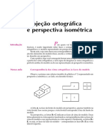 aula10, Projeção ortográfica e perspectiva isométrica