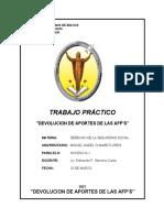 Trabajo - Devolucion de Aportes AFPS