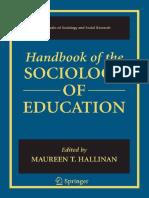 Handbook of the Sociology of Education (Handbooks of Sociology and Social Research) ( PDFDrive )