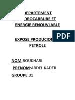 DEPARTEMENT HYDROCARBURE ET ENERGIE RENOUVLABLE