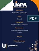Terapia Del Aprendizaje Tarea 1 Altagracia Brazoban