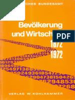 Bevoelkerung Und Wirtschaft 1872 1972