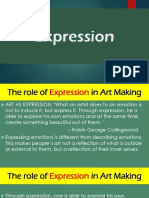 Role of EXPRESSION in Art Making