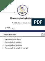 00 Manutenção Industrial_Bibliografia, Conteúdo, Avaliações
