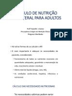 CÁLCULO DE NUTRIÇÃO PARENTERAL PARA ADULTOS