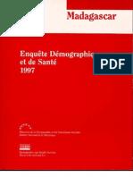Enquête Démographique et de Santé Madagascar 1997 (DDSS - INSTAT/1998)