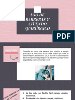 USO DE BARRERAS Y ATUENDO QUIRÚRGICO