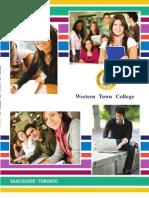 Western Town College Brochure