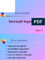 Inecuatii logaritmice