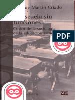 Martin Criado Enrique - La Escuela Sin Funciones