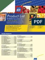 BFP Product List 2011