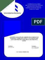 MONOGRAFIA DE GOBIERNO ELECTRONICO EN VENEZUELA 2021