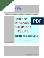 Journée Africaine de la Statistique 1999