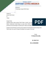 Surat Permohonan Pemasangan Jaringan PDAM Takalar