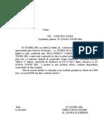 adresa  cii oancea zana restituire 2000 euro